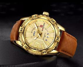 Relógio De Luxo Naviforce Original Com Pulseira De Couro