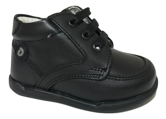 Zapato Bota Infantil Escolar Dogi E-8932 Niño Negro Piel