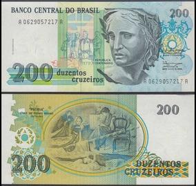 Cédula De 200 Cruzeiros 1990 Fe