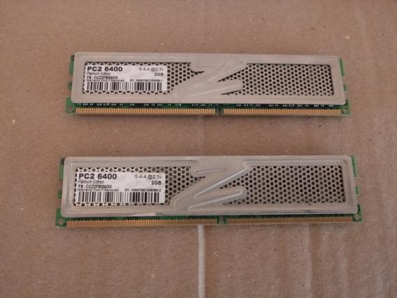 Memoria Gamer Ocz 2gb Ddr2 800mhz C/ Dissipador