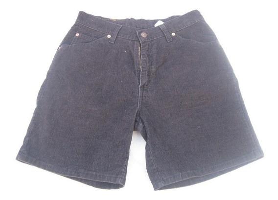 Shorts De Cotele Levis Strauss Talla W30 Color Negro Impecab