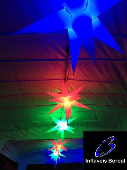 5 Sputiniks Estrelas,11 Pontas, 80cm, Pele, Dj, Som
