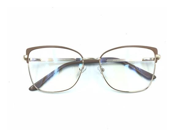 Armações Óculos Sem Grau Feminino Estiloso Nude Trend-a31