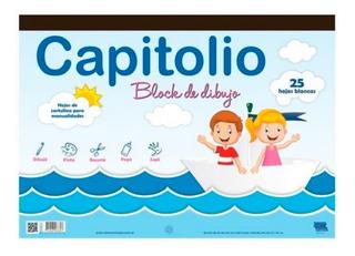 Block Tipo El Nene Blanco Nº5 Dibujo Tempera Acuarela