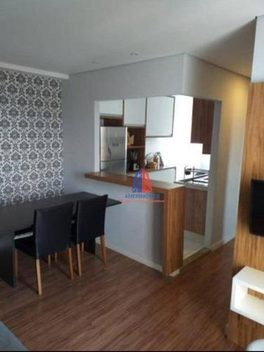 Imagem 1 de 30 de Apartamento Com 2 Dormitórios À Venda, 50 M² Por R$ 240.000 - Residencial Bosques Da Itália - Jardim Guanabara - Americana/sp - Ap0876