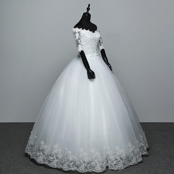 Vestido De Novia Barato De Encaje Princesa