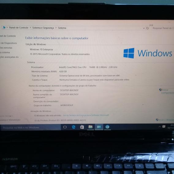 Notebook Dell 1545, Core 2 Duo, 2gb, Sem Tela (funcionando)
