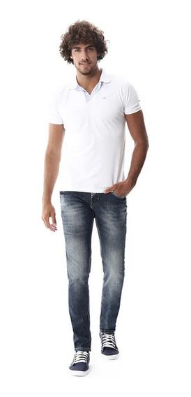 Calça Jeans Sawary Masculina Skinny Azul