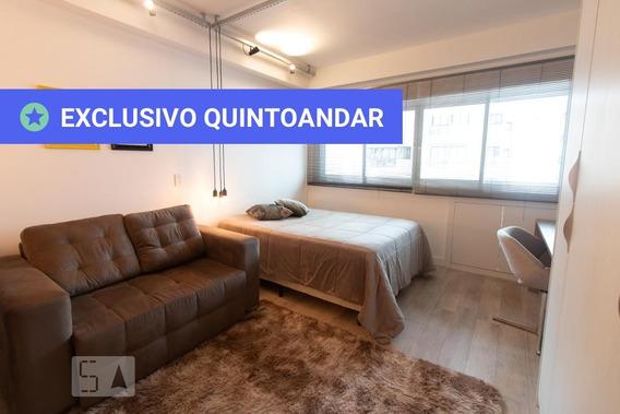 Studio No 8º Andar Mobiliado Com 1 Dormitório - Id: 892986771 - 286771