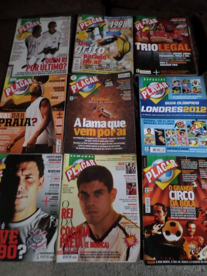 Lote Com 9 Revistas Placar Inter Vasco São Paulo Santos Grem