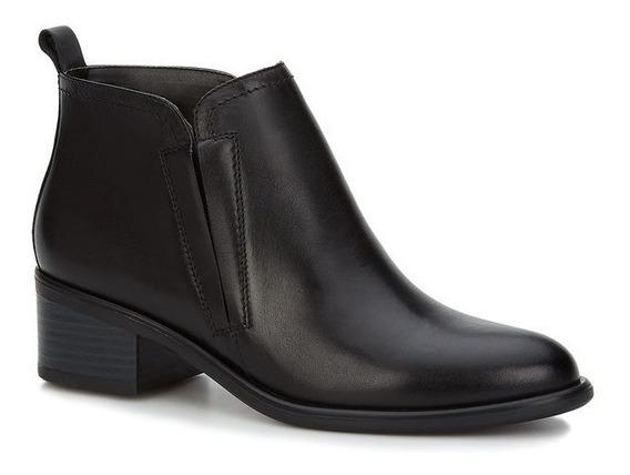 Zapatos Botines Negros Andrea De Piel Para Dama Tacón 5 Cms