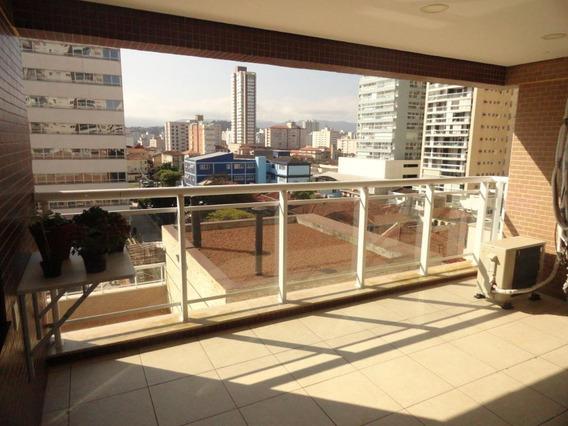Apartamento Com 3 Dormitórios À Venda, 95 M² Por R$ 690.000 - Pompéia - Santos/sp - Ap4395
