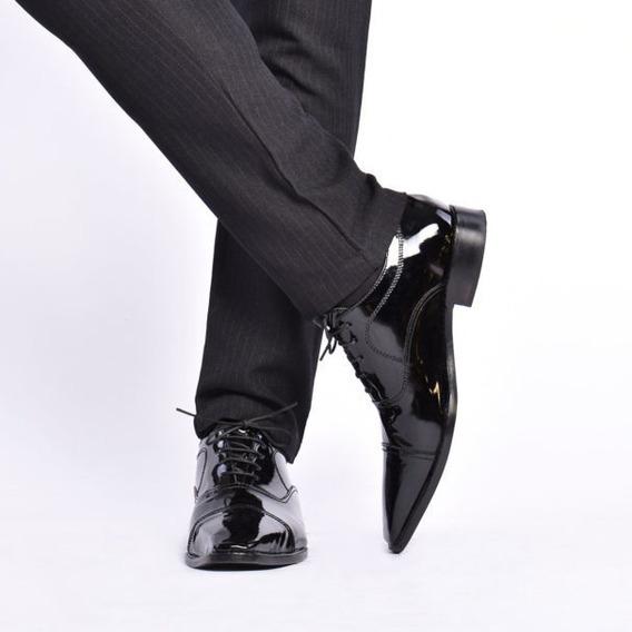 Calzado De Hombre By Luciano Marra Perth Black Charol 16085