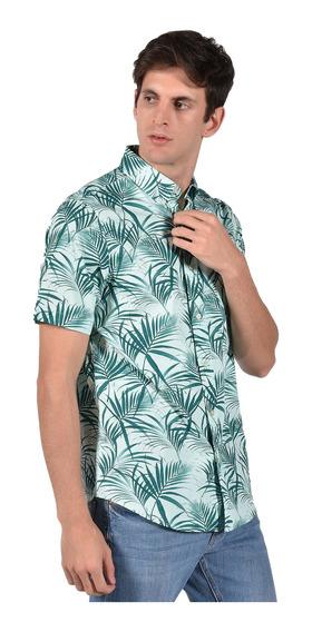 Camisa Classic Fit Chaps Verde 750712408-32g4 Hombre