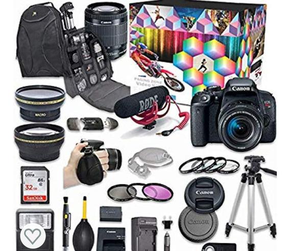 Câmera Canon T6i Com Kit De Equipamentos