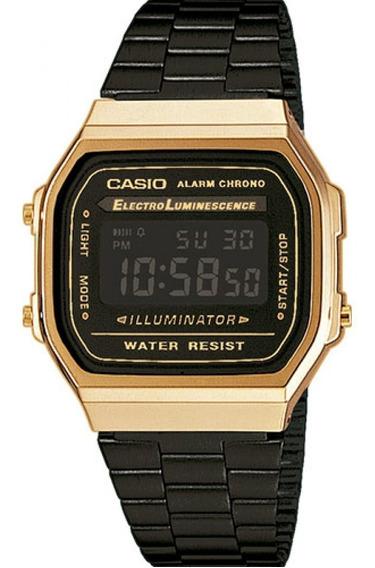 Relógio Casio Vintage Original Unissex A168wegb-1bdf