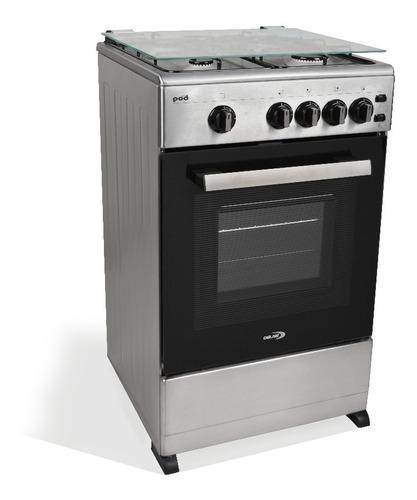 Cocina Super Gas Delne 5040  Acero Encendido Luz Imperio