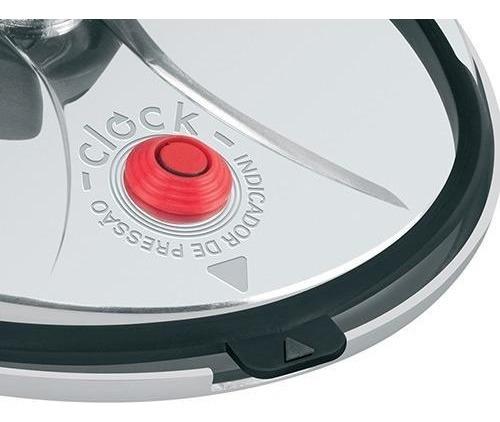 3 Borracha Panela Pressao Clock Control 4,5lts + Peso E Selo
