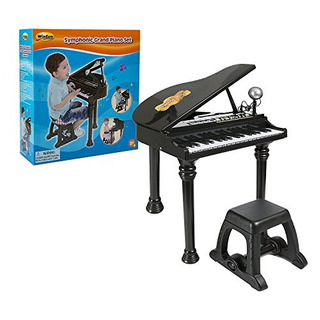 Piano De Cola Electrónico Con Micrófono Desmontable Y Tecl