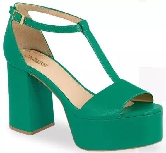 Sandalia/zapatilla Dama Cklass 625-04 Verde 10cm Pv20