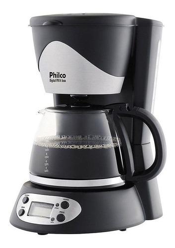 Cafeteira Philco PH14 Inox preta e prata 110V