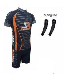 Conjunto Carbono Camisa+bermuda+manguito