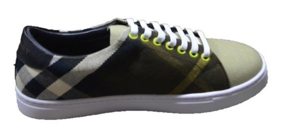 Tenis Sneakers Burberry Verde + Envío Gratis