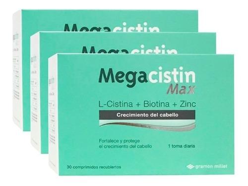 Megacistin Max 3 Cajas X 30comp Anticaida Del Cabello