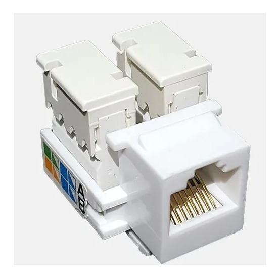Kit 8 Pçs Conector Rede Femea Rj45 Keystone Cat-galvão Eletr