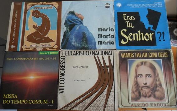 6 Compactos Vinil - Música Religiosa