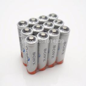 6 Pilha Sony Aaa Recarregável 4300mah 1,2v + Carregador