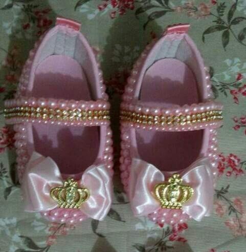Sapato Bebe Menina Customizados