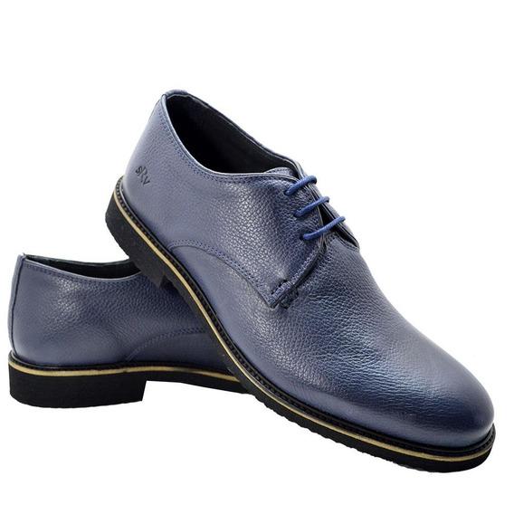 Sapato Social Conforto Masculino Couro Sanravi