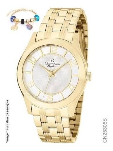 Relógio Champion Analógico Cn25305s Feminino + Semijoia