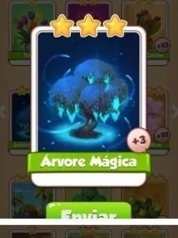 Carta Coin Master Árvore Magica 7 Rs
