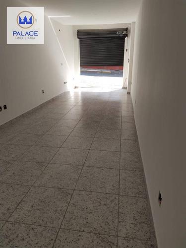 Salão Para Alugar, 36 M² Por R$ 1.100,00/mês - Paulista - Piracicaba/sp - Sl0108