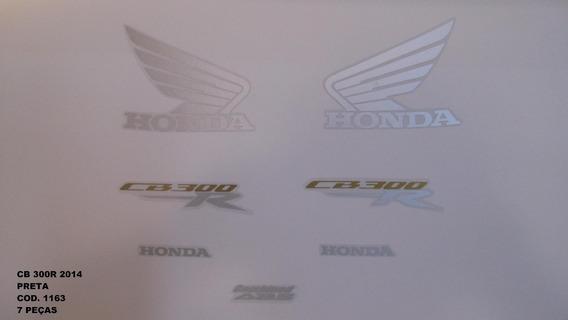 Faixa Adesivo Completo Honda Cb 300r Preto - 2014 - 14