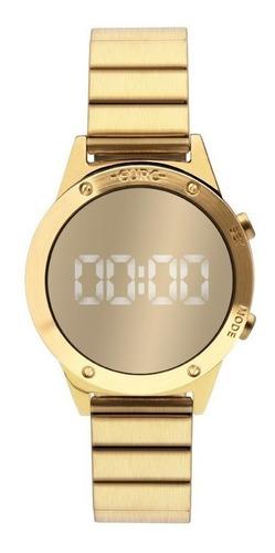Imagem 1 de 7 de Relogio Euro Dourado Espelhado Eujhs31bab/4d Sabrina Sato Nf