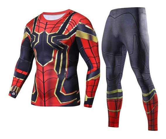 Conjunto Deportivo Playera+lycra Spiderman Superman Batman