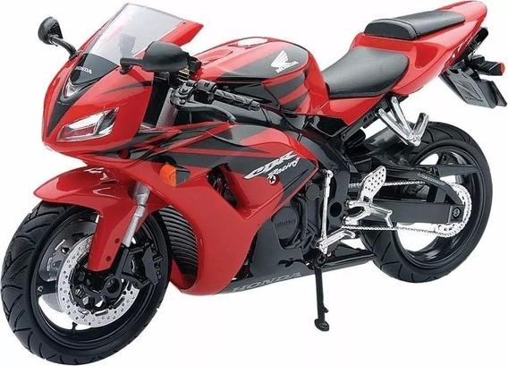 Moto Honda Cbr 1000 Rr Escala 1:12 New Ray Rojo/negro