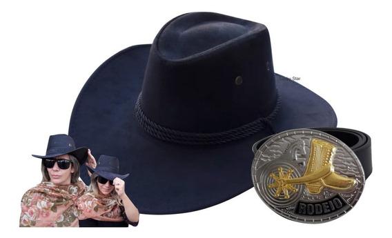 Cinto Country Feminino Cowboy Rodeio Junina + Chapéu