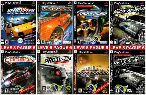 Need For Speed Ps2 Coleção 8 Dvds Carros Patch Portugues Mercado Livre