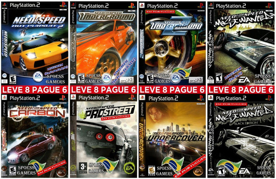 Need For Speed Ps2 Portugues Coleção (8 Dvds) Carros Patch
