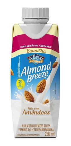 Bebida Vegetal Almond Breeze Zero Açúcar Baunilha 250ml