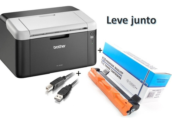 Impressora Brother Hl-1202 Laser Preta Cabo + Toner