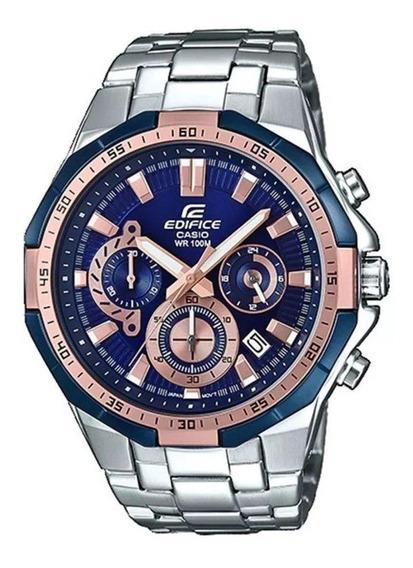 Relógio Casio Edifice Masculino Efr-554d-2avudf Prateado