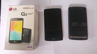 2 Celular Lg G2 Lite Quebrados Para Reparo E Peças