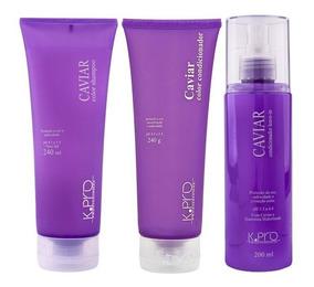 Kit Caviar Color Shampoo 240+ Condicionador + Leave-in K.pro