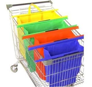 Bolsa Ecológica Para Carrito De Supermercado Con Soporte