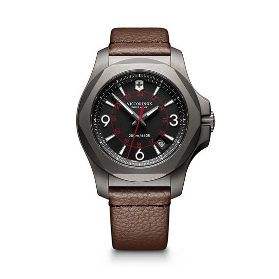 Relógio Victorinox 241778 Inox Titanium Marrom Original